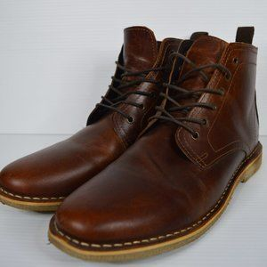 Asos Mens Leather boot US size 9 Brown Lace Up